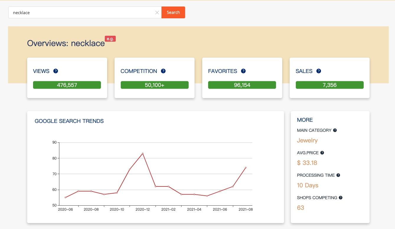 etsy seo & etsy keyword tool