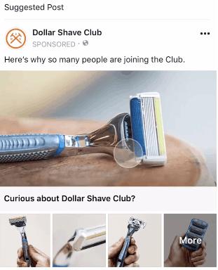 Facebook boutique column advertising