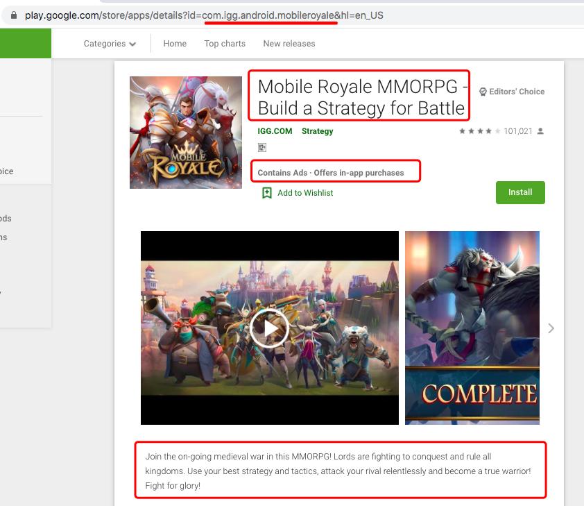 AppSimilar-google play SEO