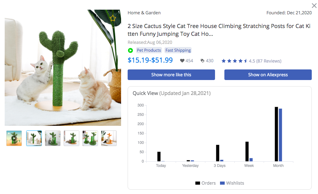 Cactus Style Cat Tree - FindNiche