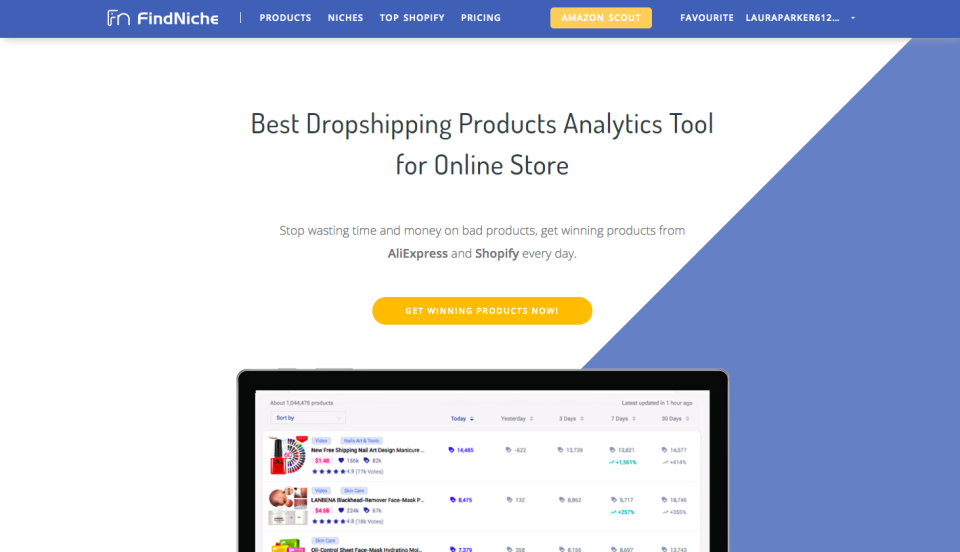 find dropshipping niches with FindNiche